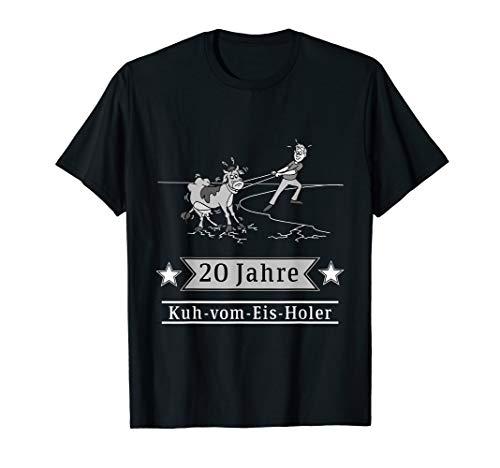 Firmenjubiläum 20 Jahre Kuh-vom-Eis-Holer T-Shirt Geschenk