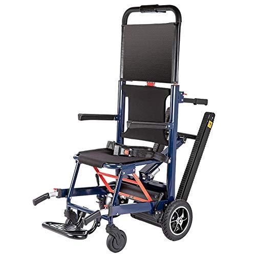 MJ-Brand Silla de Ruedas con orugas eléctrica multifunción - Escalera portátil sin barreras para Personas Mayores discapacitadas Subir escaleras Ligeras escaleras Arriba y Abajo de la Silla de Ruedas
