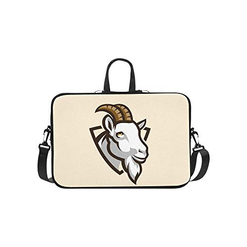 Laptop Sleeve Goat Mascot Waterproof Laptop Shoulder Messenger Bag Pouch Bag Case Tote with Handle Fits 14 Inch Netbook/Laptop