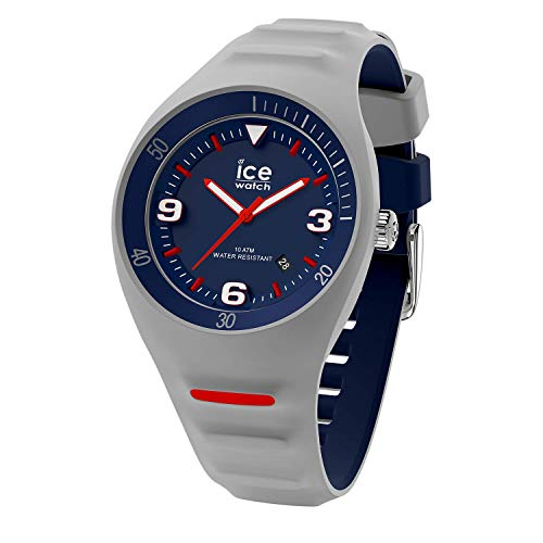 ICE-WATCH P. Leclercq Grey Blue - Reloj Gris para Hombre con Correa de Silicona, 018943 (Medium)