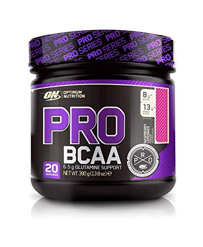 Optimum Nutrition ON PRO BCAA, Amino Acid Powder with Glutamine, Raspberry Lemonade, 390 g, 20 Servings
