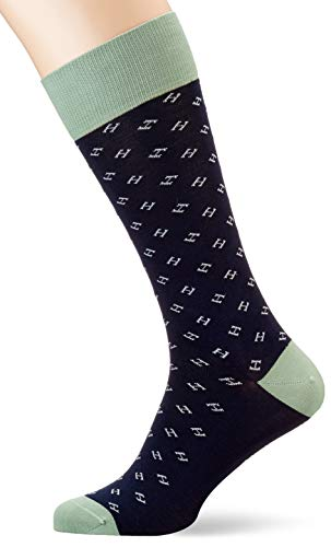 Hackett Herren H DOT Socken, Grün (6a6green/Navy 6a6), 39/42 (Herstellergröße: SM)