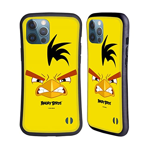 Head Hülle Designs Offiziell Offizielle Angry Birds Chuck Volles Gesicht Hybride Handyhülle Hülle Huelle kompatibel mit Apple iPhone 12 Pro Max