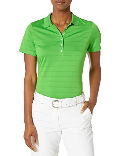 Callaway Women's Golf Short Sleeve Pique Open Mesh Polo Shirt, Vibrant Green, Medium