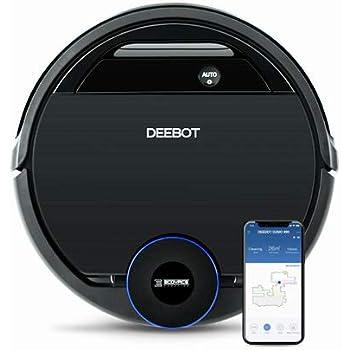 Ecovacs DEEBOT 900 Robot Aspirador con navegación laser inteligente, barreras virtuales y control mediante app (adecuado para suelos duros y alfombras), 30 W, 67 Decibelios, Plástico, Blanco: Amazon.es: Hogar