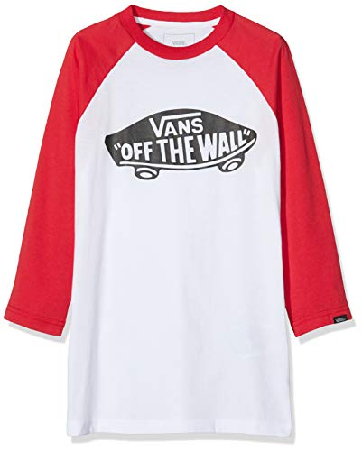 Vans Jungen OTW Raglan Boys T-Shirt, Mehrfarbig (White-Racing Red Ksf), X-Large