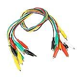 Juego de cables de prueba de pinza de cocodrilo con aislamiento de 10 piezas de 50 cm, pinzas de prueba de cables para conexión de prueba de componentes electrónicos y automóviles