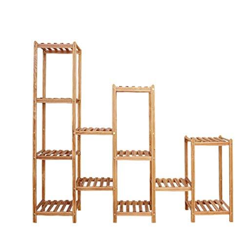 HJ Cadre multi-fonctionnelle - Usine Stand - 9 étages Support de rangement - personnalisable, brun, 45,2 × 59,1 × 12.2in