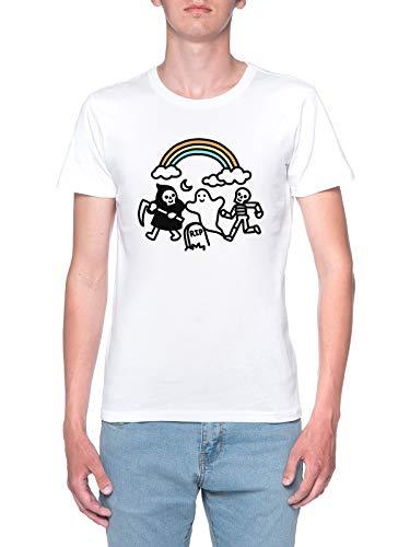 Delavi Spooky Pals T-Shirt Uomo Bianco T-Shirt Men's White