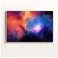 BGGGTD ポスター ギャラクシー星雲宇宙天文学宇宙雲キャンバス絵画壁アートプリントとポスターリビングルームの寝室の家の装飾-50x70cmx1フレームなし