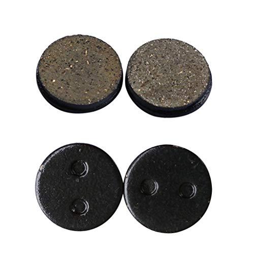 wyxhkj 2 Stücke Bremsbeläge Hinterrad Reibplatten für XIAOMI MIJIA M365 Elektroroller (Schwarz)