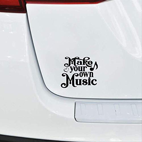 WYLYSD Car sticker 16CM*13.4CM Funny Car-styling Make Your Own Music Vinyl Car Sticker Decal Black Silver C15-3267 Black