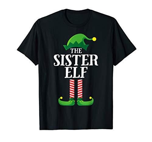 Sister Elf Matching Family Group Christmas Girls Pajama T-Shirt