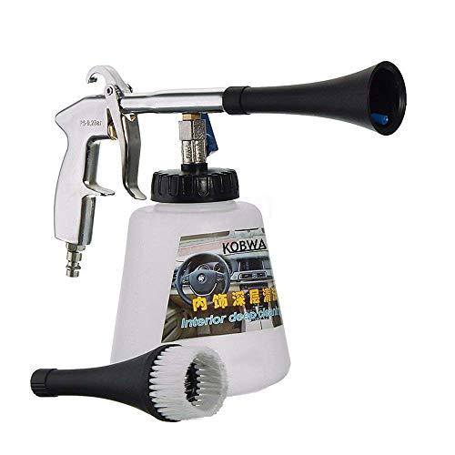 Pistolet de nettoyage voiture à haute pression, équipement pulsation d'air pistolet lavage intérieur Haute pression avec le bec pulvérisateur surface bouteille mousse extérieur tornade,A