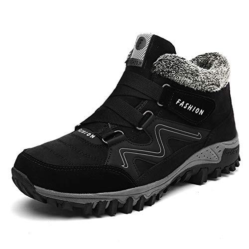 Anokar Winterschuhe Herren Damen Schneestiefel Warm Gefütterte Stiefel Trekking Hiking Winter Boots Wanderschuhe Outdoor Schwarz Grau Lila Gr.35-46 BK42