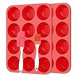 Molde de silicona para repostería de media esfera, muffin, chocolate, galletas, hornear, decoración de tartas, para hacer manualidades, cocina, hornear, muffin, chocolate, galletas, molde para hornear