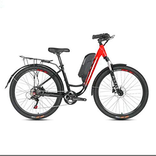 RDJM Bici electrica, 27,5 Pulgadas Bicicletas eléctricas, 48V10A LCD de visualización Digital de Bicicletas de Choque de la Horquilla Delantera Ciudad conmute la Bici Adulta (Color : Gray)