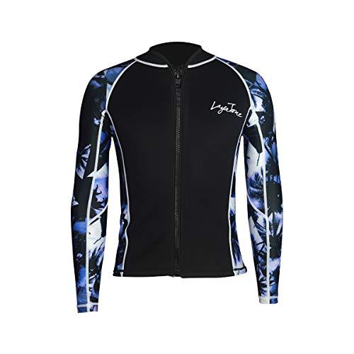 LayaTone - Traje de buceo con chaqueta de neopreno de 3 mm para deportes acuáticos, traje de neopreno para hombre y mujer