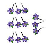 TW Pfirsichblüte Duschvorhang Badezimmer Rostfrei Glide Duschvorhang Haken (lila)