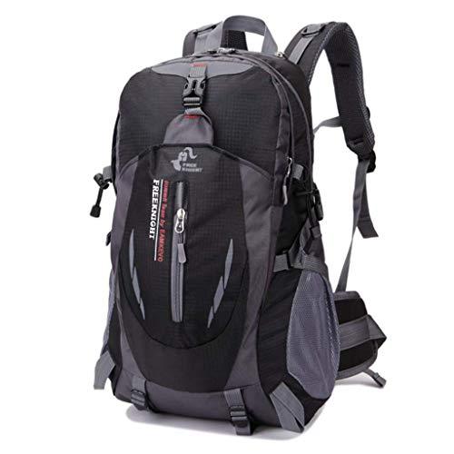 SHRAY 36-55L Mountaineering Outdoor Bag Leisure Sport Travel Backpack on Foot Camping Waterproof High Capacity Multifunction Backpack Black