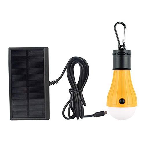Funnyfeng lamp op zonne-energie, camping, tent, licht, zonnelamp, waterdicht, led, geschikt voor feestjes in de open lucht