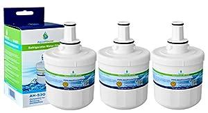 3x AH-S3G filtre à eau compatible pour Samsung réfrigérateur DA29-00003G, HAFCU1 / XAA, HAFIN2 / EXP, DA97-06317A