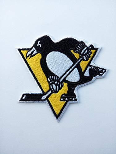 ASTONISH Parche, 2 Unidades, diseño de la Liga Nacional de Hockey Pittsburgh Penguins, 9 x 8 cm