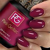 Pink Gellac 229 Berry Red Color Esmalte Gel Permanente 14 días