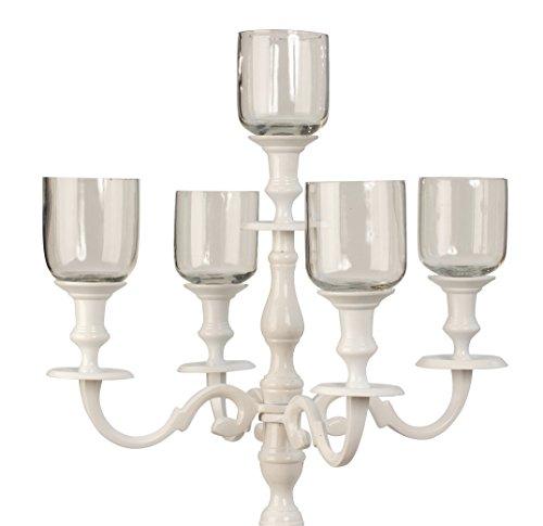Geschenkestadl 5er Set Glasaufsatz für Kerzenständer Windlicht Aufsatz