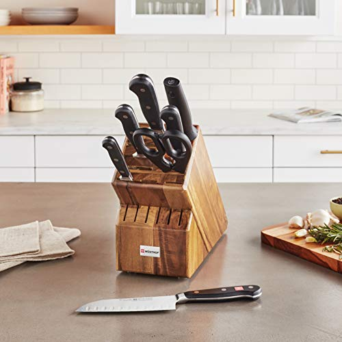 Wusthof CLASSIC Eight Piece Block Set, One Size, Black, Stainless Steel