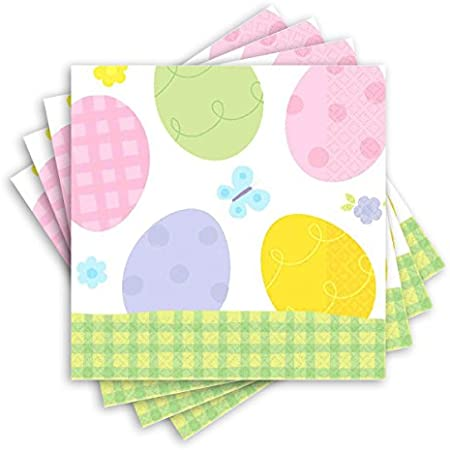 20 Ct Amscan Easter Eggstravaganza Paper Luncheon Napkins Party Tableware