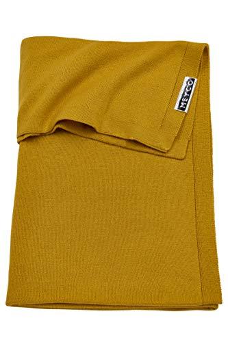 Meyco 2733023 Wiegdeken knit basic, 75x100 cm, okergeel