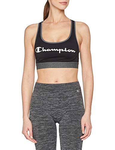 Champion Damen The Absolute Workout Sport-BH, Mehrfarbig (Noir Logo 8mo), Small