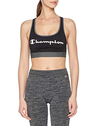 Champion The Absolute Workout Reggiseno, Multicolore (Noir Logo 8mo), Medium Donna