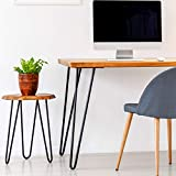 4x Haarnadel Tischbeine Möbelfuß Tischgestell Hairpin Leg Möbelfüße| SCHWARZ MATT | Höhe 61cm...