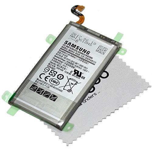 Mungoo - Batteria originale per Samsung Galaxy S8 Plus G955F, con panno per la pulizia dello schermo