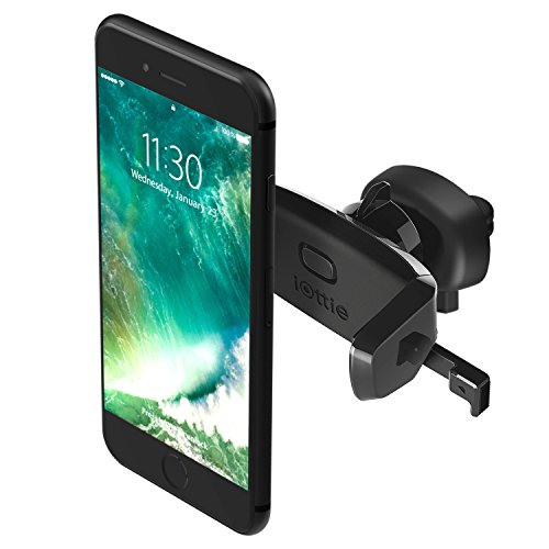 iOttie Easy One Touch Mini Air Vent Car Mount Holder Cradle for iPhone Xs Max R 8 Plus 7 Samsung Galaxy S10 E S9 S8 Plus Edge, Note 9 & Other Smartphone