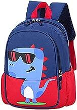 POWOFUN Kids Toddler Preschool Travel Backpack Cool Cute Cartoon Waterproof Schoolbag (Dinosaur Red)