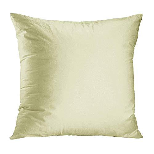 XCNGG Kissenbezug Pastel Lemon Yellow Pale Soft Meringue Yellow Plush Hidden Zipper Home Sofa Decorative Throw Pillow Cover Cushion Case Squ...