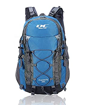 Diamond Candy Waterproof Hiking Backpack for Men and Women 40L Lightweight Day Pack for Travel Camping