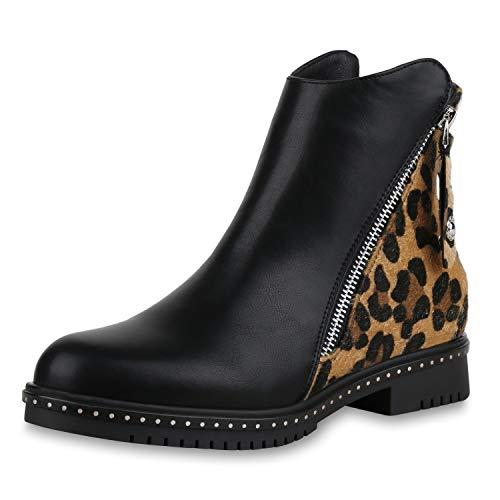 SCARPE VITA Klassieke Dames Laarzen Ankle Laarzen Lederlook Schoenen Leeuw Afdruk Booties Korte-Laars Rits Zool