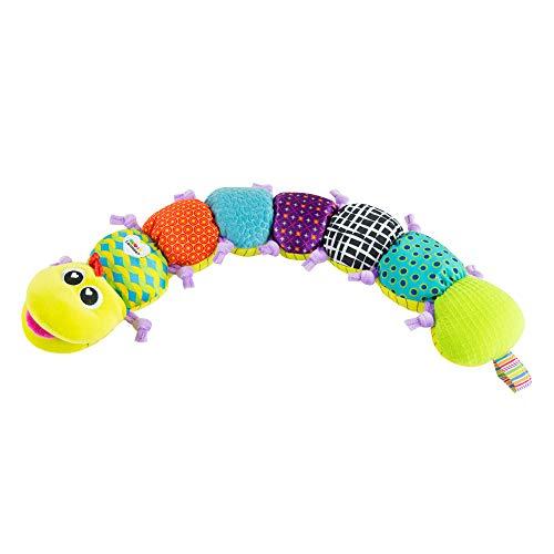 Lamaze LC27107 Babyspielzeug mit MusikWurm Mehrfarbig, Hochwertiges Kleinkindspielzeug, Fördert den Tastsinn und das Hörvermögen Ihres Kindes, Baby Kuscheltier, Baby Musik Spielzeug, Ab 0 Monaten