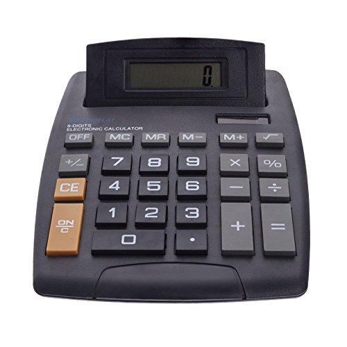 Smartfox Elektronischer XL-Taschenrechner Tischrechner Calculator Schulrechner Dual Power Solar und Batterie für Schule Uni Vorlesungen Büro