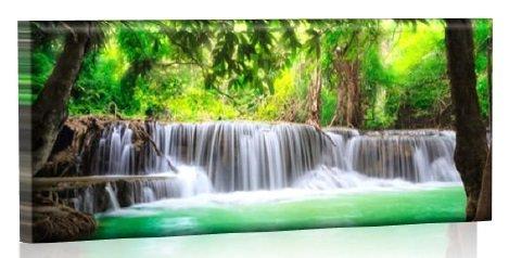 LED Bild - Bilder fertig gerahmt - Kunstdruck auf Wandbild - Leuchtendes LED Bild - LED Wandbild - Model 35-100x40 cm