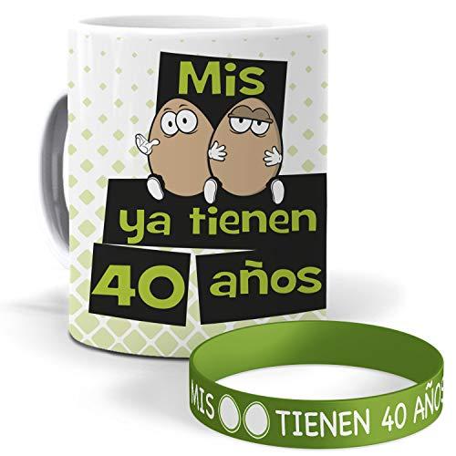 mundohuevo Taza y Pulsera Mis Huevos ya Tienen 40 años