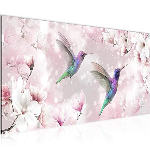 Vector de la decoración floral de la pared de la magnolia - 100 x 40 cm Vista de impresión en lienzo Salón Apartamento - listo para colgar - 015612th