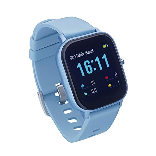 Sami - Evolution - Smartwatch, Smartband, Pulsera de Actividad Deportiva. Color Azul. para Android y iOS Función: Cámara, GPS, presión sanguínea, Fuerza G, Multideportivo.