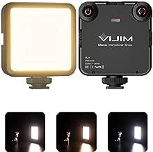 VIJIM VL81 LED On Camera Video Light, Mini Rechargeable 3000mAh Battery Bicolor 3200K-5600K Continuous Photo Lighting Panel CRI95+, Portable Vlog Lamp Fits Sony, Nikon, Canon, iPhone, Fuji, Panasonic