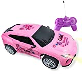 Tcvents Pink Remote Control Racing Car Toy for Girls Toddlers Kids Birthday Party Gifts, Princess Style RC Racing Vehicle Car