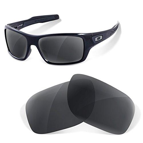sunglasses restorer Polarisierte Ersatzgläser für Oakley Turbine (Black Iridium)